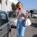 Toni Garrn – Arrives at the airport in Mykonos