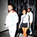 Christina Milian and singer Matt Pokora – Leaving Catch LA in West Hollywood