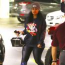 Blac Chyna spotted hitting the gym  on April 22, 2016 in Los Angeles, California