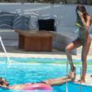 Izabel Goulart in Floral Bikini at the pool in Mykonos - 454 x 278