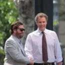 "Will Ferrell and Zach Galifianakis promoting their new film ""The Campaign"" at the Grove in Los Angeles, CA (July 17)"