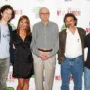 "(L-R) Josh Grisetti, Laurie Metcalf, Neil Simon, Dennis Boutsikaris and Noah Robbins attend ""The Neil Simon Plays: Brighton Beach Memoirs & Broadway Bound"""