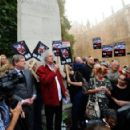 Brian May leads an anti-fox hunting rally for PETA on July 14, 2015 in London, England. - 454 x 292