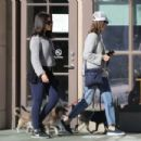 Calista Flockhart with her dogs off at a pet boutique in Brentwood - 454 x 303