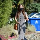Lily Collins – In a long summer dress out in Los Angeles