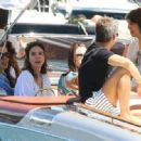 Vanessa Hudgens joined her handsome beau Austin Butler on a luxury yacht in Portofino, Italy where they mingled with model Luciana Gimenez Morad and her son Lucas Jagger
