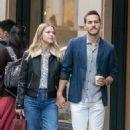 Melissa Benoist and Chris Wood – Strolling on Rue Royale in Paris 09/24/2018