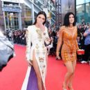 Kendall and Kylie Jenner arrive at the 2014 MuchMusic Video Awards at MuchMusic HQ on June 15, 2014 in Toronto, Canada