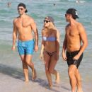 Ellie Goulding with boyfriend Dougie Poynter on Miami Beach January 5,2015 - 454 x 434