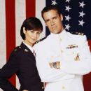 Catherine Bell and David James Elliott