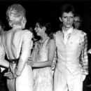 Bianca JAGGER and Angie BOWIE and David BOWIE