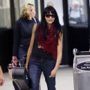 Tinsel Korey Arrives at LAX With Her Guitar - 384 x 594
