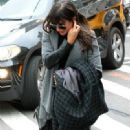 Lea Michele: arriving her hotel in New York