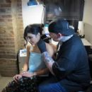 Vanessa Hudgens makes a Butterfly Tattoo on her neck