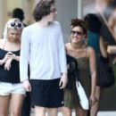 Caroline Flack goes for a stroll with friends in downtown Miami, Florida on January 2, 2016 - 396 x 600
