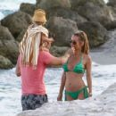 Annemarie Carpendale in Green Bikini at the beach in Miami - 454 x 344