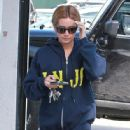 Ashley Tisdale: starts her morning with a trip to the gym in West Hollywood