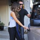 Kate Beckinsale stops by a nail salon for a mani/pedi in Santa Monica, California on January 31, 2015 - 410 x 600
