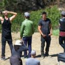 Zac Efron is seen on the set of 'We Are Your Friends'