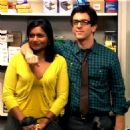 B.J. Novak and Mindy Kaling - 454 x 453