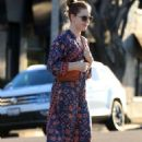 Amy Adams in Floral Print Dress – Out in Beverly Hills