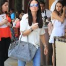 Kyle Richards and husband Mauricio Umansky take their daughters Alexia, Sophia and Portia out for lunch in Beverly Hills, California on June 10, 2016 - 370 x 600