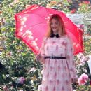 Pregnant Drew Barrymore's Flowery Photoshoot