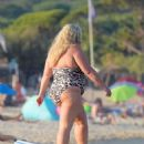 Gemma Collins in bikini enjoying the sun in Saint Tropez - 454 x 563
