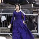 Jenna Louise Coleman Filming the ITV drama 'Victoria' in Hartlepool - 454 x 550