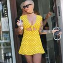 Amber Rose in Yellow Dress – Out in Beverly Hills