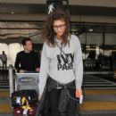 Zendaya spotted arriving from a flight at Los Angeles Int'l airport May 3, 2015
