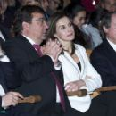 Queen Letizia of Spain Attends 'Princess of Girona Foundation' Prize in Arts and Literature - 454 x 302