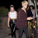 Anastasia Karanikolaou and Anwar Hadid – Leaving the Delilah club in West Hollywood