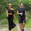 Lady Gaga in Long Skirt on a Hike in Montauk - 454 x 506