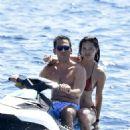 Adriana Lima in Bikini at a luxury yacht in Sardinia