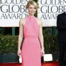 Claire Danes arrives at the 68 annual Golden Globe Awards, January 16, 2011