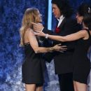 Gene Simmons presents the Favortie Female Artist Award during the 2007 American Music Awards held at the Nokia Theatre L.A. LIVE on November 18, 2007 in Los Angeles, California