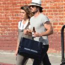 Nikki Reed and Ian Somerhalder out in Venice - 454 x 700