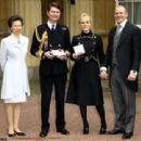 Zara & Mike with Princess Anne & Timothy Lawrence - 454 x 340