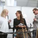 Alicia Vikander and Michael Fassbender at Toronto Airport July 18, 2017 - 454 x 347