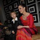 Olga Budina and her son - 454 x 683