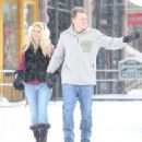 Heidi Montag and Spencer Pratt spotted out for a stroll on a snowy day in Aspen, Colorado on December 28, 2014 - 454 x 505