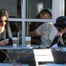 Joe Jonas publicly kissed his girlfriend, Blanda Eggenschwiler, yesterday October 12th while walking about Melrose and enjoying Starbucks in West Hollywood, CA