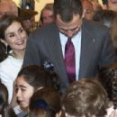 King Felipe VI of Spain and Queen Letizia of Spain : ARCO opening - 454 x 302