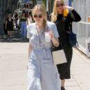 Dakota Fanning – Leaving the farmers market in Studio City