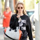 Ashley Tisdale Leaving The Gym In La