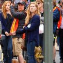 Amy Adams Performs on the Set of 'Sharp Objects' - 425 x 600