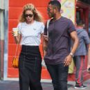 Doutzen Kroes and husband Sunnery James – out in SoHo - 454 x 681