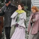 Emma Watson, Saoirse Ronan, Florence Pugh and Eliza Scanlen – Filming 'Little Women' Set in Cambridge - 454 x 681
