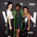 Jessica De Gouw attends WGN America's cocktail reception for 'Salem,' 'Outsiders,' and 'Underground' during New York Comic Con 2016 at The Standard Highline on October 8, 2016 in New York City - 409 x 600